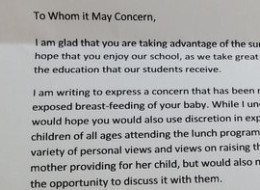 Principal's Letter To Breastfeeding Mom Causes Outrage