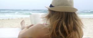 WOMAN BEACH BOOK