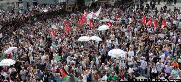 Thousands Of Pro-Palestinian Protesters Defy French Rally Ban