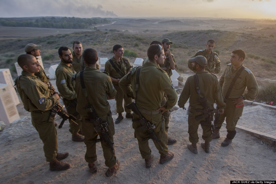 gaza soldiers on hill