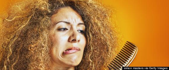 frizzy hair sad