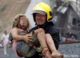 17 imágenes del accidente de Santiago difíciles de olvidar
