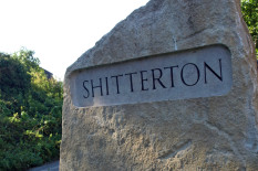 Road sign for Shitterton | Pic: Flickr/Alistair Coleman