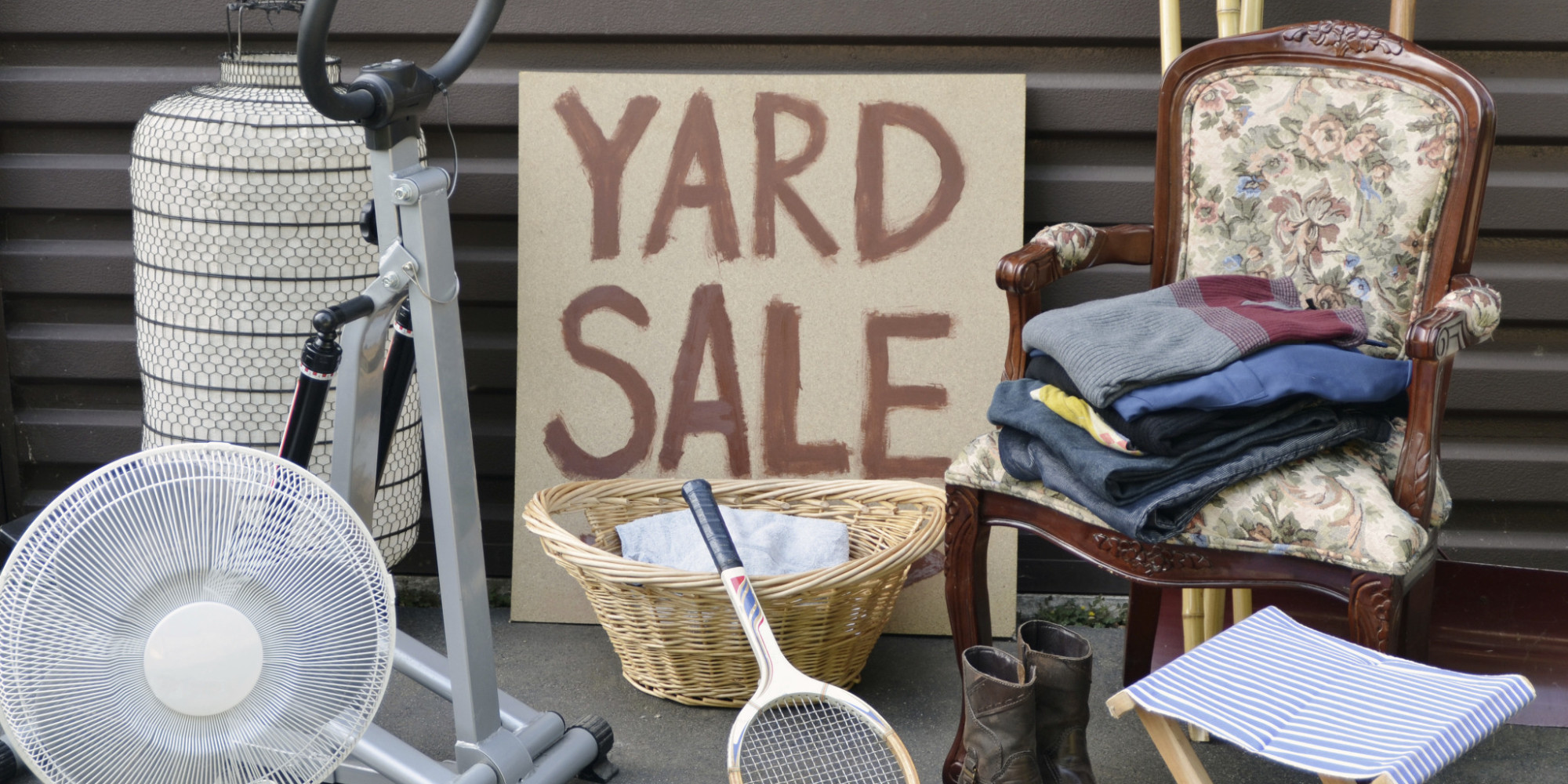 11 things no one will buy at your yard sale huffpost for Yard furniture for sale