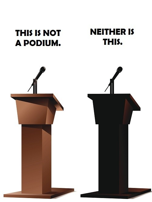 this is not a podium