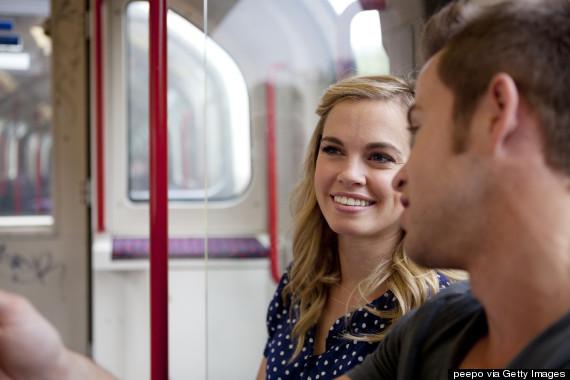underground train people talking