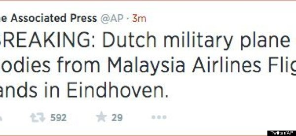 How Appallingly Worded AP Tweet Sparked Fears Of Second MH17 Disaster