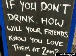 This Bar Sign Speaks The Truth About Drinking