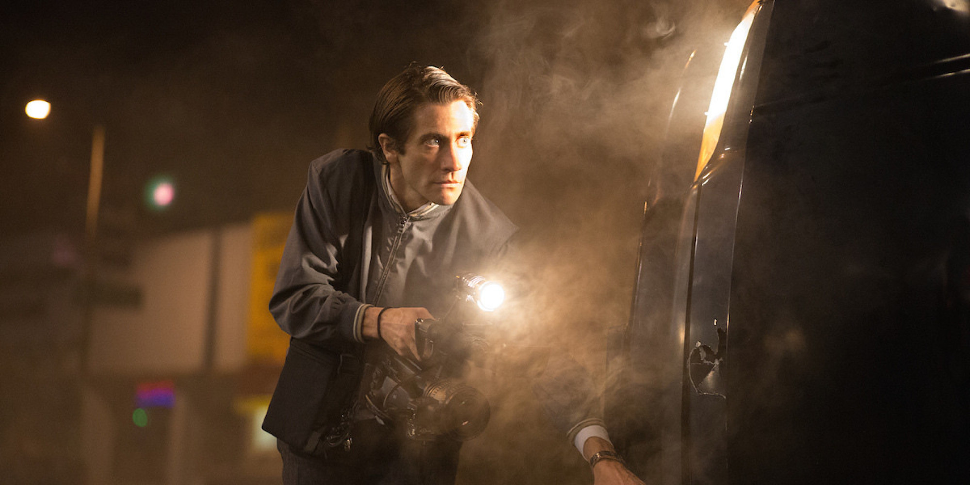 Jake Gyllenhaal creeps us all out as Louis Bloom in Nightcrawler.