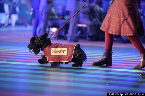 commonwealth games opening ceremony glasgow dog