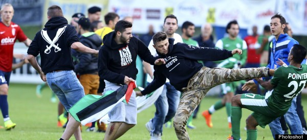Pitch Invasion Sees Pro-Palestinian Protesters Clash With Israeli Football Players