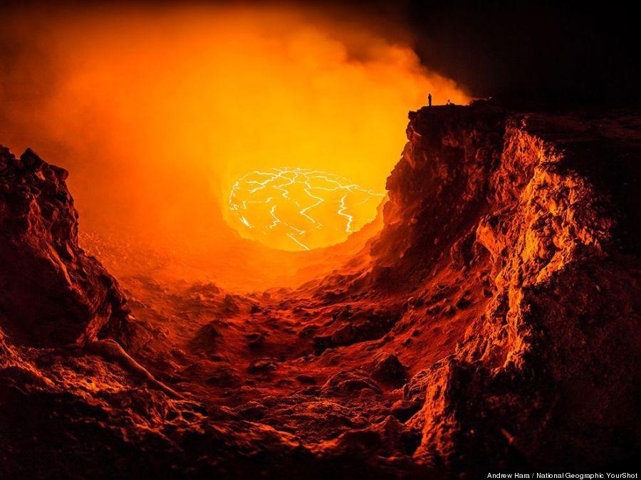 volcano selfie