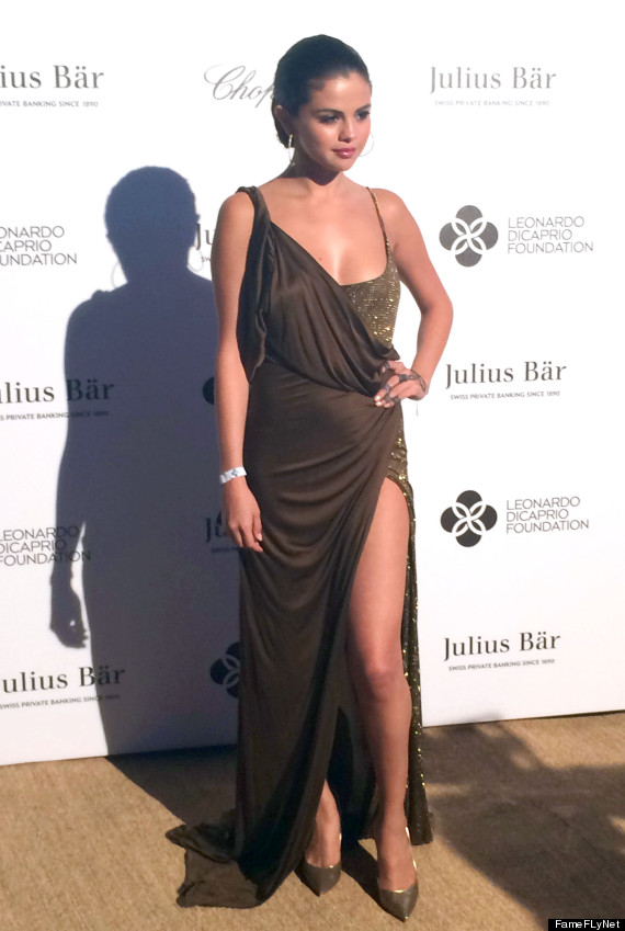 Selena Gomez Shines In Bronze Dress With Thigh-High Slit | HuffPost