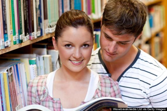 bookstore couple