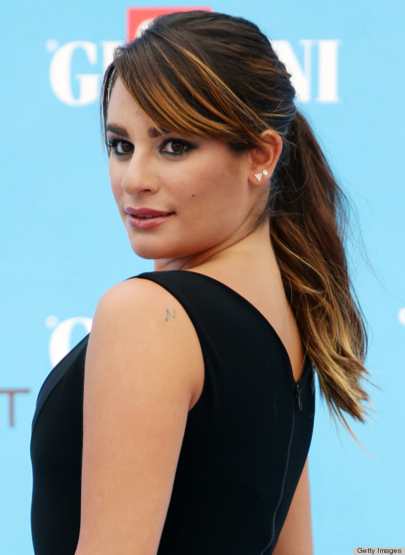 Magnificent Lea Michele Proves That The Ponytail Is Anything But Plain Natural Hairstyles Runnerswayorg
