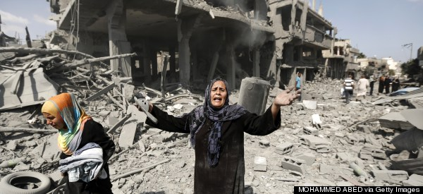 Gaza Residents Return To Destroyed Areas