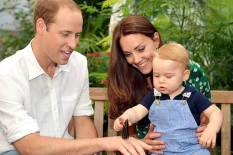 Duke and Duchess with Prince George | Pic: Getty