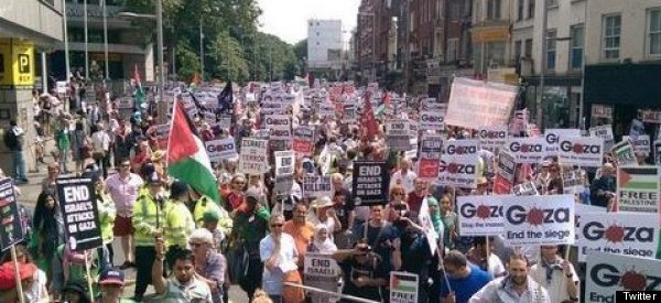 Thousands March For Gaza As Fragile 12-Hour Ceasefire Begins