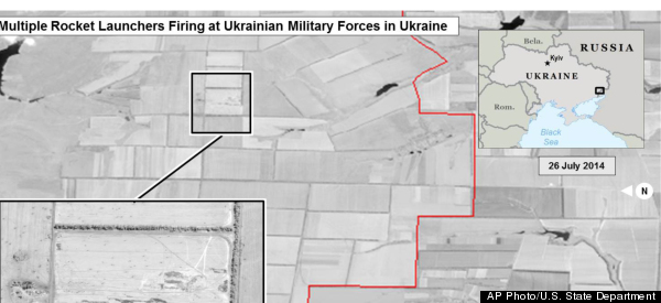 U.S. Says Images Back Up Claims Russia Fired Rockets Into Ukraine
