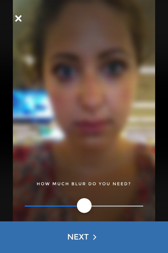 this app sort of blurs your face so you can share your deepest secrets