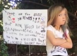 6-Year-Old Calls Out Bike Thieves With 'Ultimate Guilt Trip'