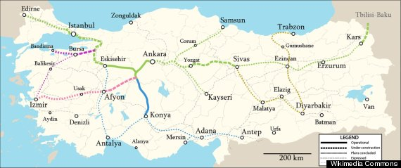 turkey high speed rail