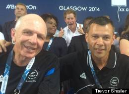 Copying Gran? Prince Harry Photobombs New Zealand Rugby Coach