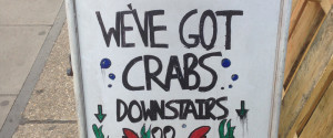 Funny Crabs Sign