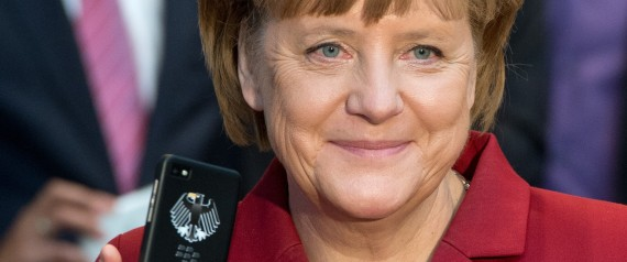 ANGELA MERKEL WITH BLACKBERRY