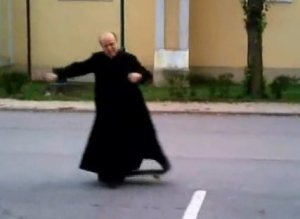 Skating Priest