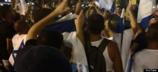Marching Israelis In Tel Aviv Chant 'There's No School In Gaza, There Are No More Kids Left'