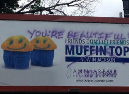 Plastic Surgery Office's 'Muffin Top' Billboard Vandalized In Beautiful Way