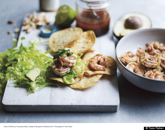 prawn tostadas