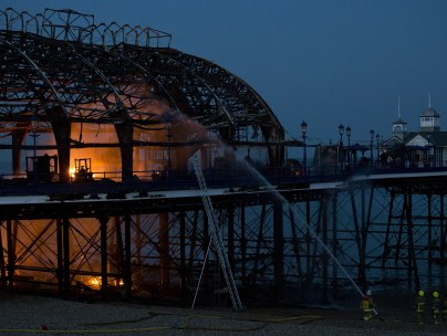 Firefighters douse flames at Eastbourne Pier