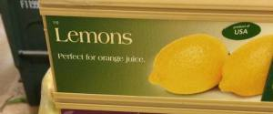 Funny Lemon Sign Fail