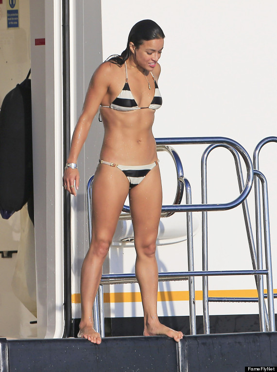Newton michelle rodriguez in a bikini ass galleries