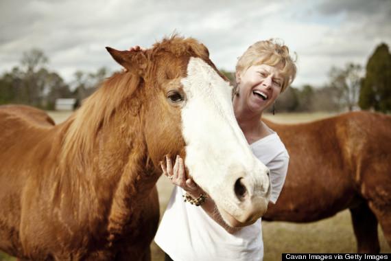 happy on horse