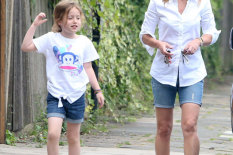 Geri Halliwell and daughter | Pic: Vantage News