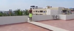 Kid Jumps Five Storeys Roof Swimming Pool