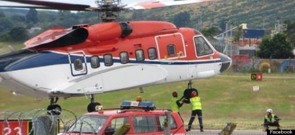 Aberdeen Helicopter Crew Lowers Landing Gear Manually Whilst Aircraft Hovers