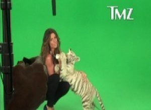 Rachel Uchitel Milks Tiger Video