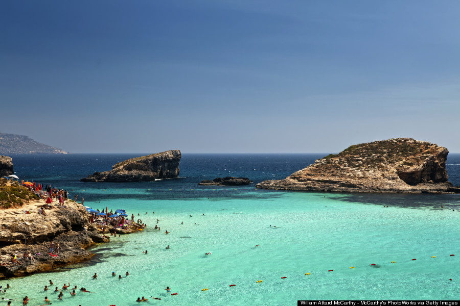 Comino Island In Malta Has A Blue Lagoon And Its Kind Of Heaven