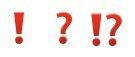 punctuation emojis