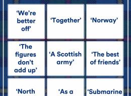 It's The Scottish Independence Debate Bingo Card!