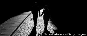 COUPLE WALKING NIGHT
