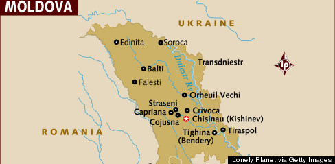 Why The World Map Looks Different To Russians HuffPost - Transnistria map