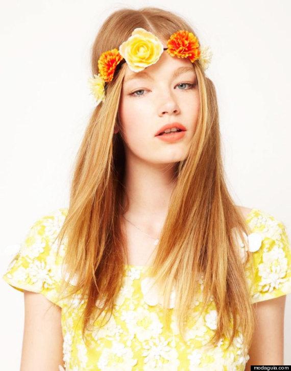 natural floral bandana
