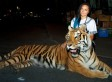Rapper Tasha The Amazon Takes Tiger For A Stroll In Downtown Toronto