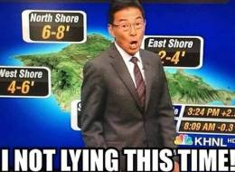 This Hawaii Weatherman Is Having The Worst Day Ever