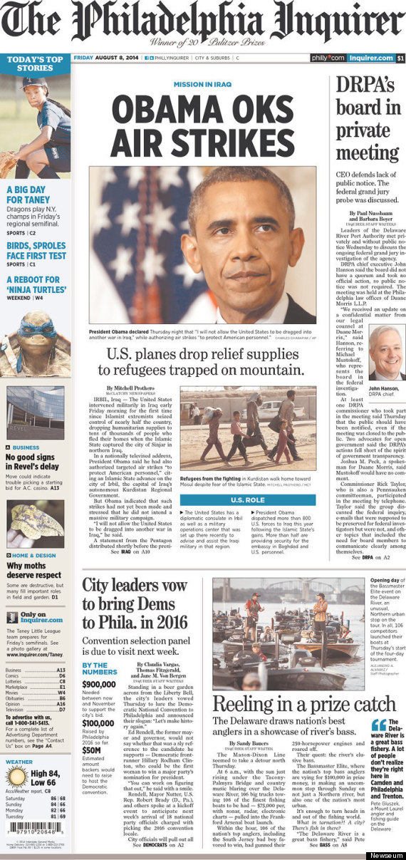 iraq front page